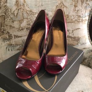 Enzo Angiolini red pumps. Like new.